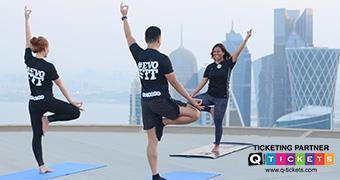 Full Moon Helipad Yoga