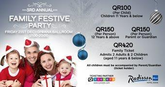 3rd Annual Festive Family Party 21 Dec