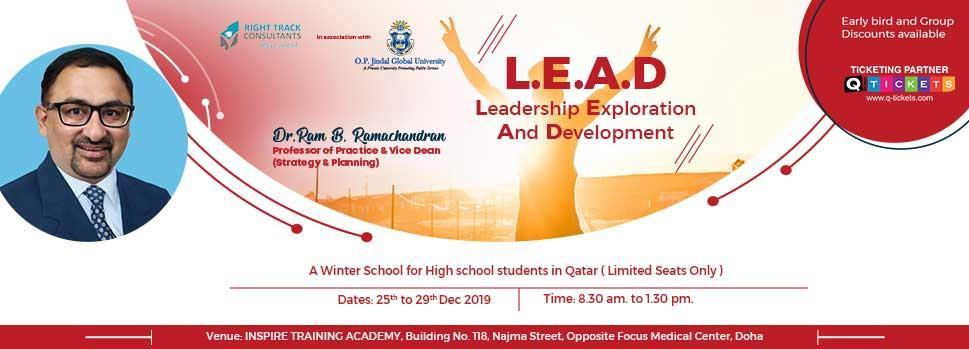 L.E.A.D  Leadership Exploration and DevelopmentA Jindal Global Winter School | Events | Tickets | Discounts | Qatar Day