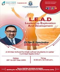 L.E.A.D  Leadership Exploration and Development  A Jindal Global Winter School