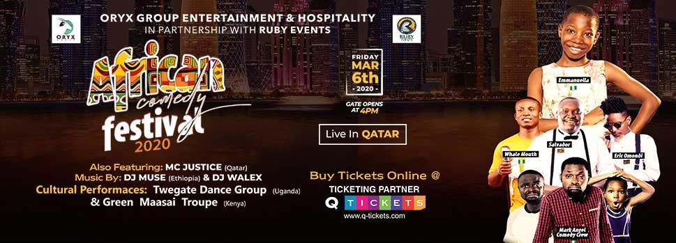 AFRICAN COMEDY FESTIVAL | Events | Tickets | Discounts | Qatar Day