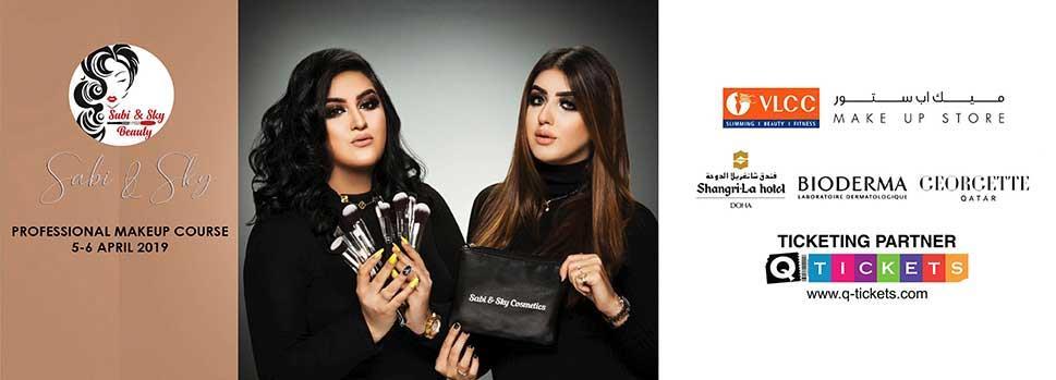 SABI & SKY  INTERNATIONAL MAKEUP WORK SHOP   Events   Tickets   Discounts   Qatar Day