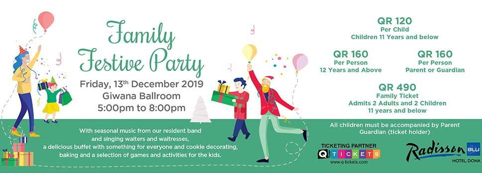 Family Festive Party | Events | Tickets | Discounts | Qatar Day