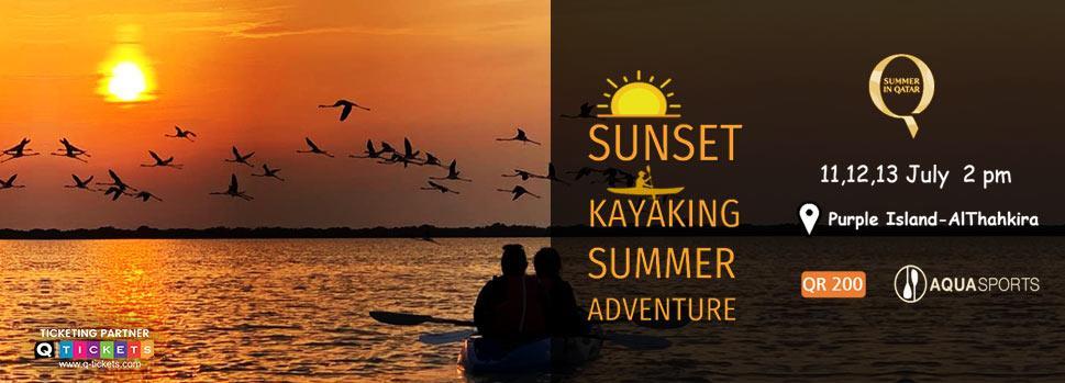 Sunset Kayaking Summer Adventure - Purple Island  | Events | Tickets | Discounts | Qatar Day