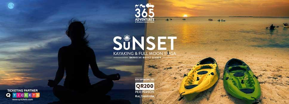 Sunset Kayaking & Full Moon Yoga | Events | Tickets | Discounts | Qatar Day