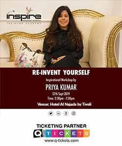 REINVENT YOURSELF  INSPIRATIONAL WORKSHOP BY MS. PRIYA KUMAR