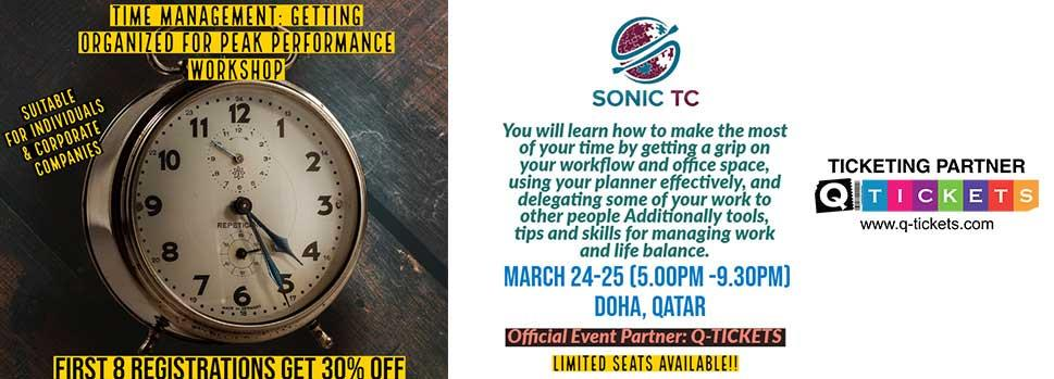 TIME MANAGEMENT  GET ORGANIZED FOR PEAK PERFORMANCE WORKSHOP | Events | Tickets | Discounts | Qatar Day