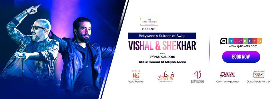 VISHAL and SHEKHAR  LIVE IN DOHA | Events | Tickets | Discounts | Qatar Day