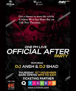 One FM (89.6) Live Bollywood Official After Party