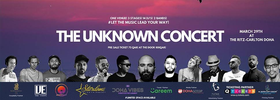 The Unknown Concert | Events | Tickets | Discounts | Qatar Day