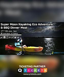 Super Moon Kayaking Eco Adventure & BBQ Dinner Meal
