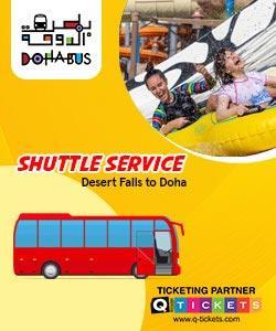 Shuttle Service (Desert Falls to Doha) Desert Falls Water Park