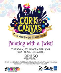 Cork & Canvas  Painting with a Twist 5th Nov 2019