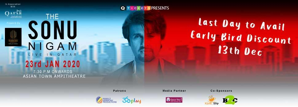 Sonu Nigham | Events | Tickets | Discounts | Qatar Day