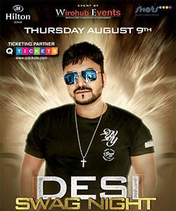 Desi Swag Night with official DJ of Mika Singh