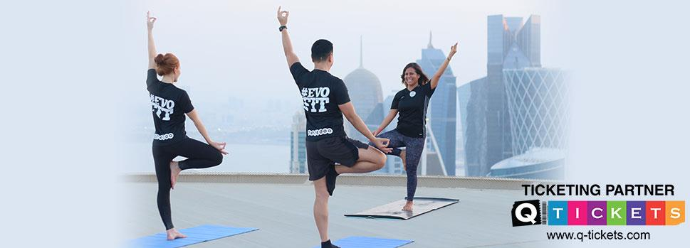 Sunset Helipad Yoga 26th April | Events | Tickets | Discounts | Qatar Day
