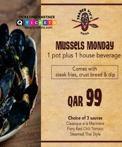 Monday Mussels Indulgence at Trader Vics