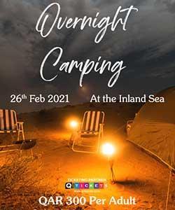 Overnight Camping at Inland sea