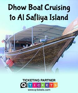 Dhow boat cruising to al Safliya island (GROUP BOOKING)
