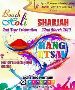 RANG UTSAV  BEACH HOLI  SHARJAH