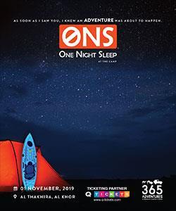 ONS (One Night Sleep) on the Island