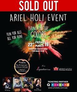Ariel Holi Event!