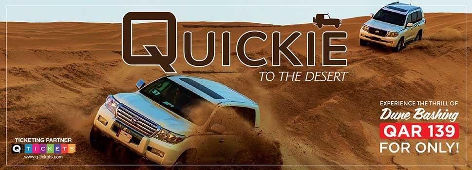 Quickie to the Desert QAR 139 (Shared) October 2019 | Events | Tickets | Discounts | Qatar Day