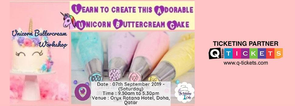 Unicorn Buttercream Cake Workshop (Beginners) | Events | Tickets | Discounts | Qatar Day