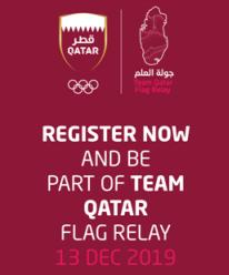 Team Qatar Flag Relay 2019