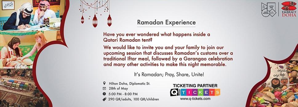 Ramadan Session | Events | Tickets | Discounts | Qatar Day