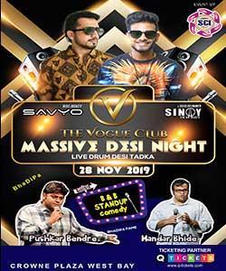 B&B Comedy Standup + DJ Savyo Bollywood Night