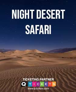 Night Desert Safari Camel Ride included