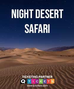 Night Desert Safari Camel Ride included