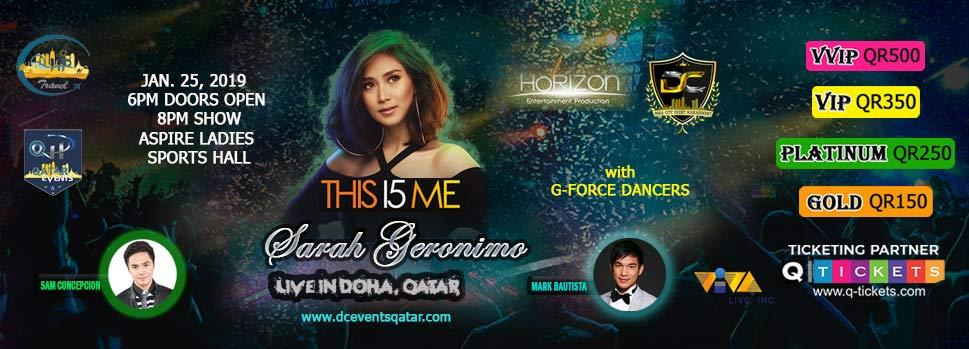 SARAH G LIVE  THIS I5 ME | Events | Tickets | Discounts | Qatar Day