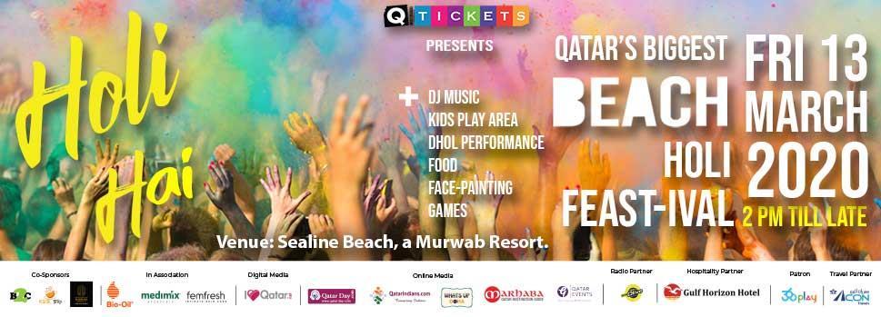 Book ticket for Beach Holi Festival 2020 in Qatar - Q-Tickets | Events | Tickets | Discounts | Qatar Day