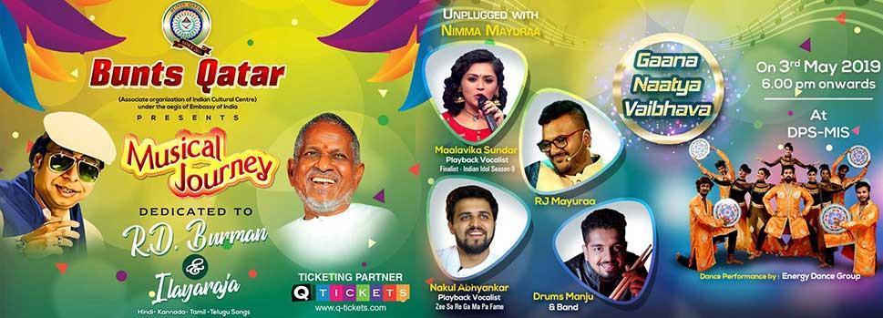 Musical Journey dedicated to R.D.Burman & Ilayaraja | Events | Tickets | Discounts | Qatar Day
