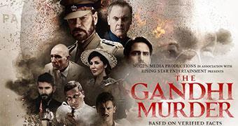 THE GANDHI MURDER (ENGLISH) -Movie banner